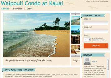 Waipouli Condo at Kauai Website powered by Rentini
