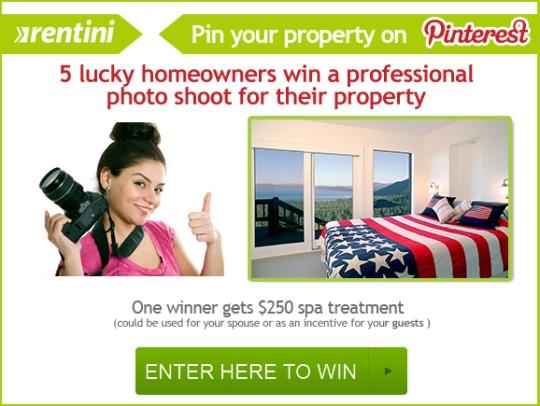 Rentini Pin-it to win it contest