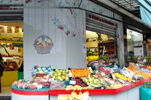 Fresh fruit and vegetables in Paris