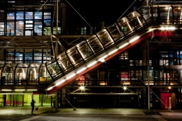 The center stairway of the Pompidou in Paris