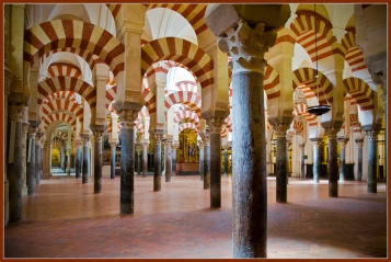 The arches of La Mesquita in Córdoba