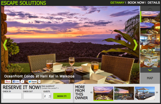 Vacation rental management website powered by Rentini