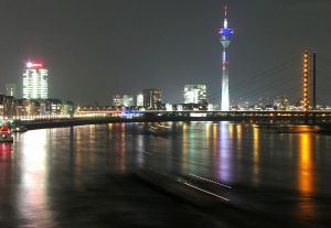 Dusseldorf Germany City lights