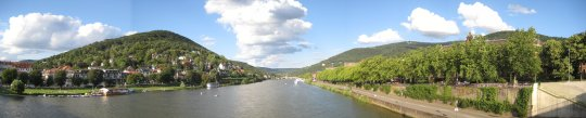 Heidelberg, Germany Panoramic View River Neckar