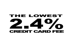 The lowest 2.4% credit card fee for vacation rentals