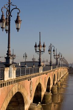 Pont de Pierre in Bordeaux, France