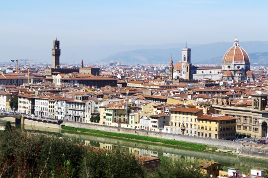 Beautiful panoramic view of old city - Florence, Italy