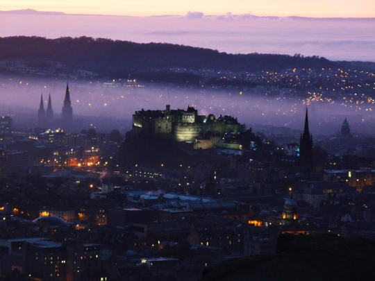 Haze over Edinburgh Castle