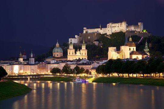 Old Town Salzburg Salzach River
