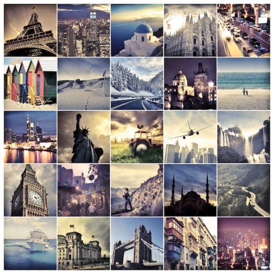 Landmarks from around the world. Choose yours!