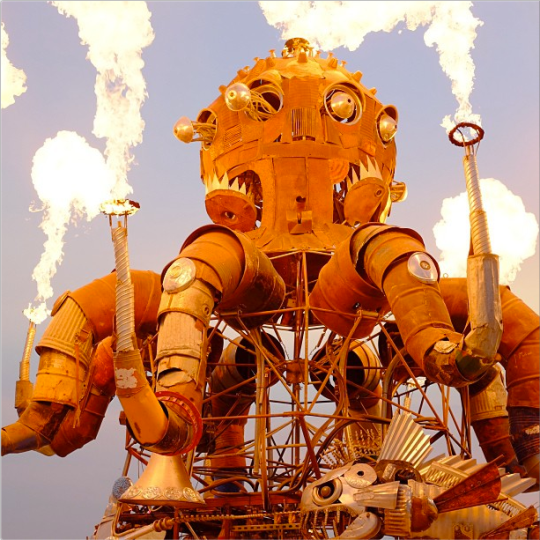 nateholme Burning Man Evil Machine from the Space