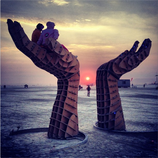 Burning Man sunrise on the playa
