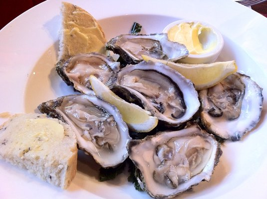 Oysters plate in Galway Restaurant