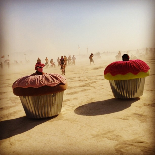 Burning Man 2013 Silly cupcakes
