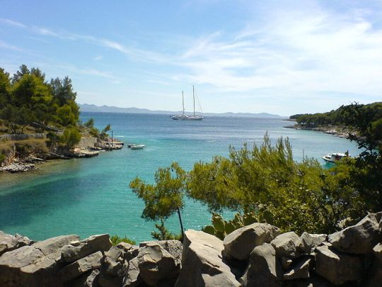 The Lucice bay near Milna, Brac, Croatia