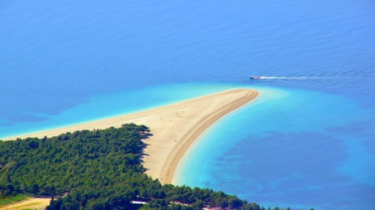 Zlatny Rat beach on the island of Brac