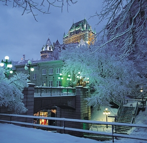 Quebec during christmas time