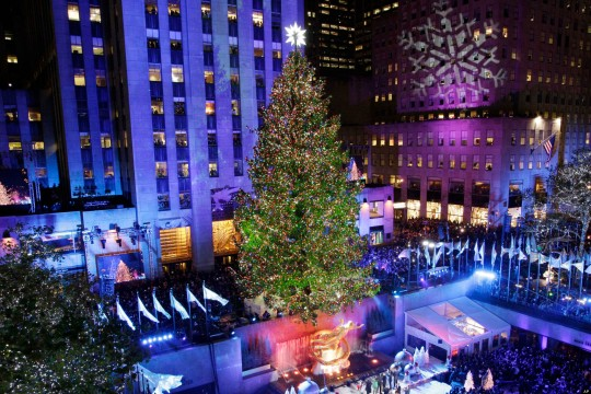 Rockefeller Center Christmas tree (AP Photo/Kathy Willens)