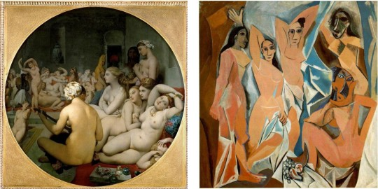 Turkish Bath Picasso vs Ingres